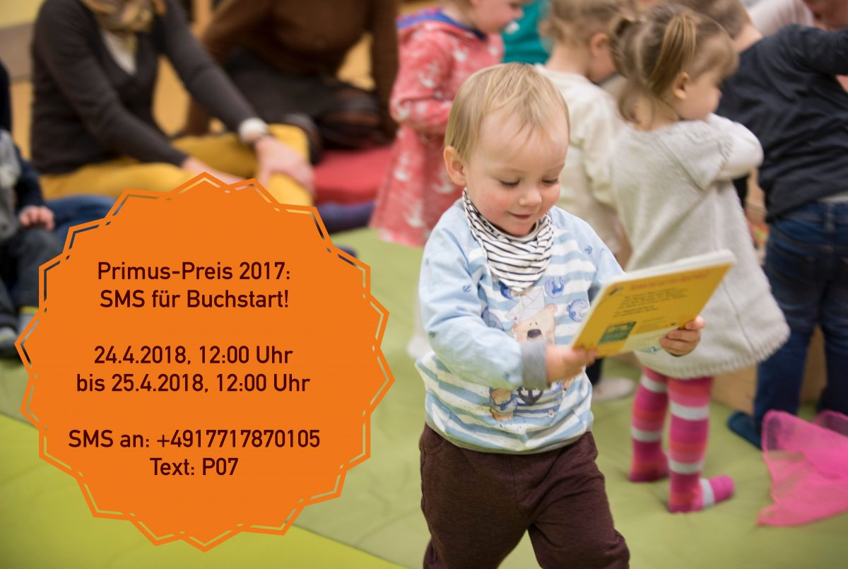 """Mitmachen: 24./25.4.2018: Eine SMS für Buchstart: """"P07"""" an +4917717870105"""