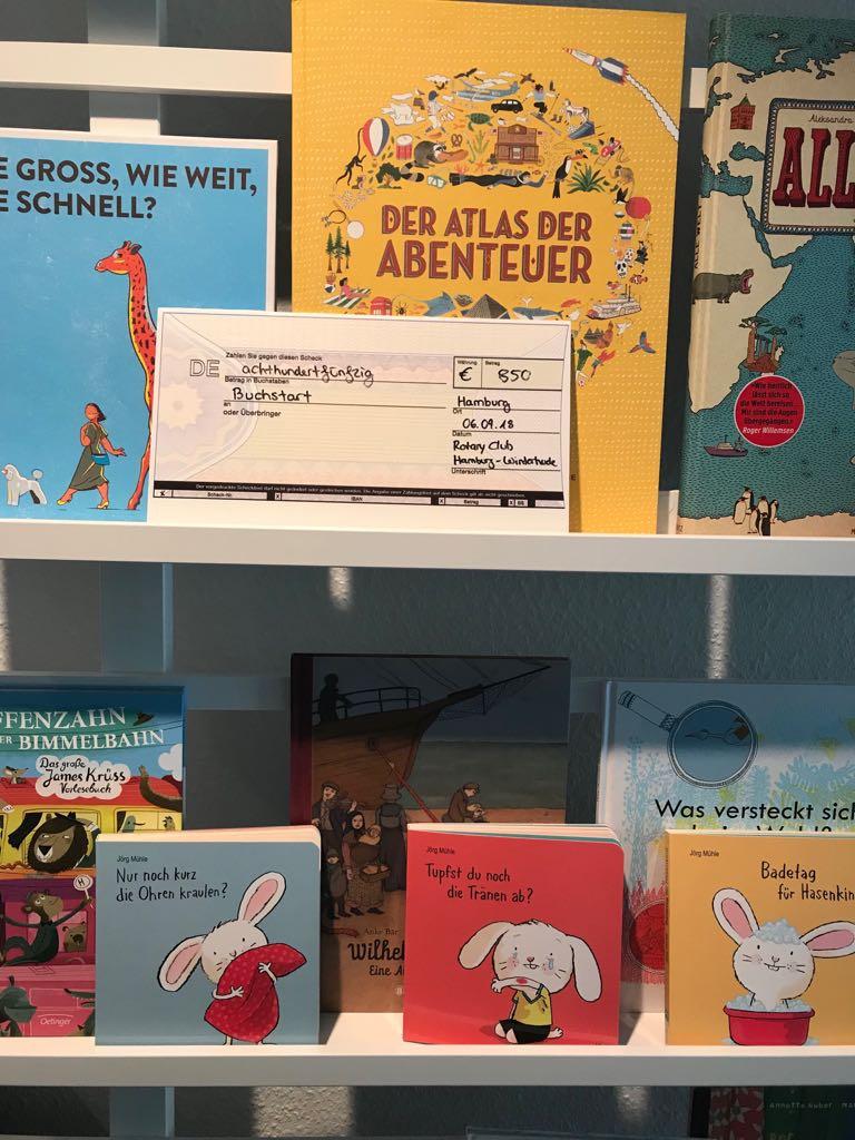 Winterhuder Rotarier unterstützen Buchstart